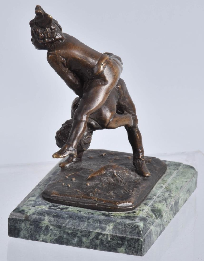 ALFRED BARYE LEAP FROG BRONZE FIGURE - 3