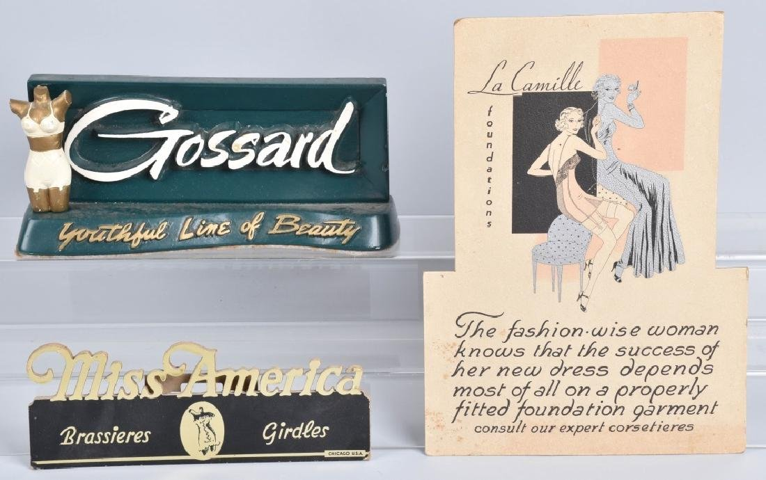 GOSSARD ADVERTISING COUNTER SIGN & MORE