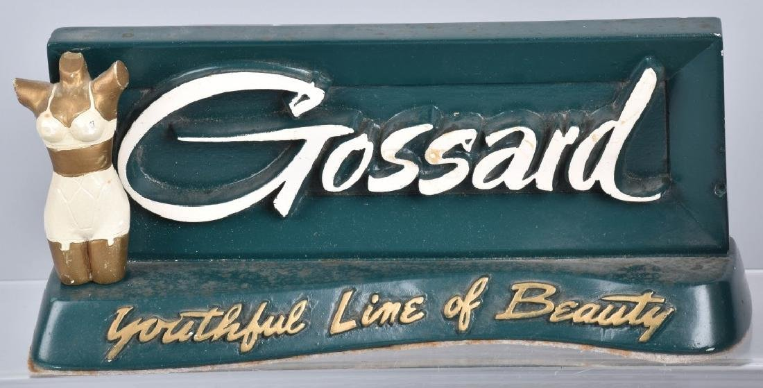 GOSSARD ADVERTISING COUNTER SIGN & MORE - 2