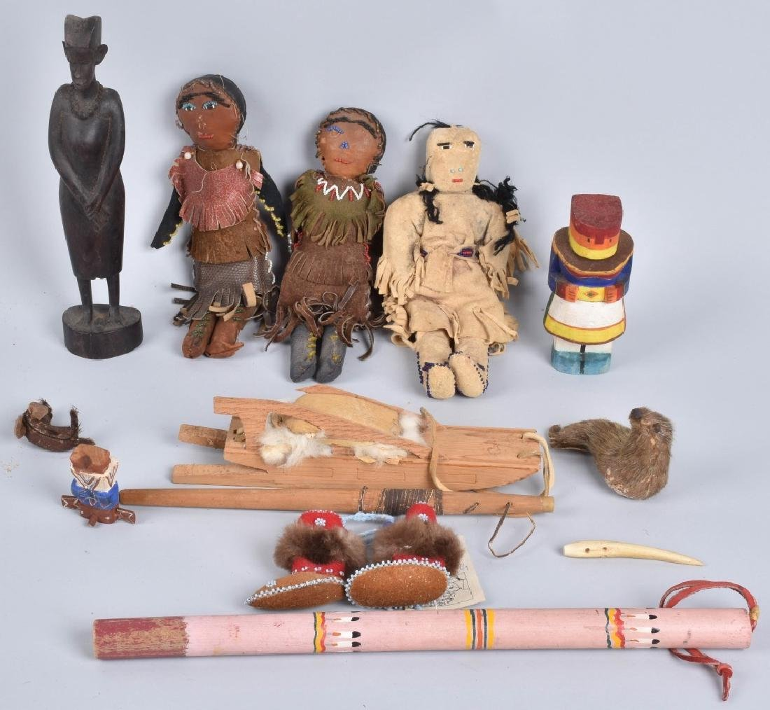 3-VINTAGE INUIT DOLLS and MORE