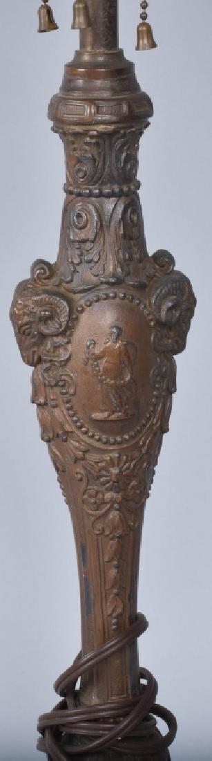 ANTIQUE SLAG GLASS LAMP - 3