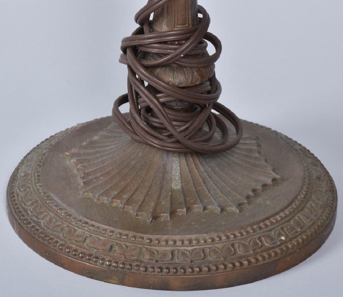 ANTIQUE SLAG GLASS LAMP - 4