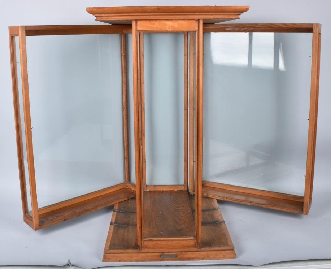 PAT. 1895 EXHIBITION OAK SHOW CASE - 2