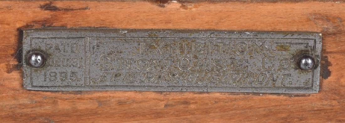 PAT. 1895 EXHIBITION OAK SHOW CASE - 3