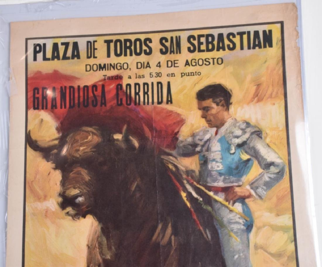 VINTAGE SPANISH BULL FIGHT POSTER - 2