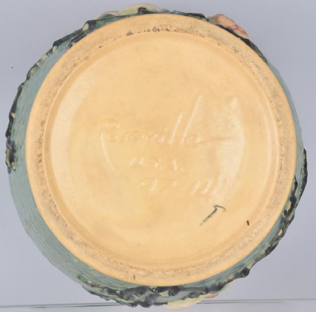 LARGE ROSEVILLE GREEN MAGNOLIA VASE - 3