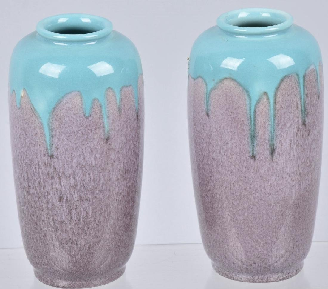 ROOKWOOD POTTERY PINK / BLUE VASES No. 6644E