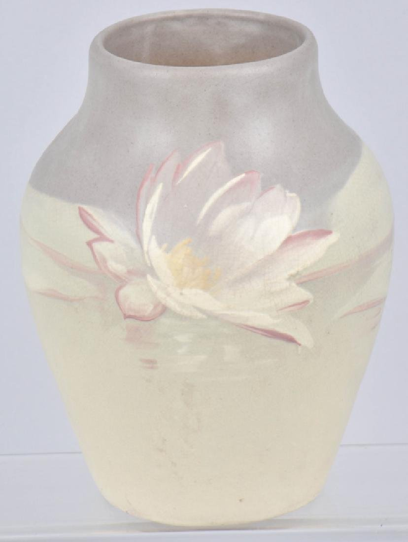 WELLER HUDSON POTTERY VASE with LILIES