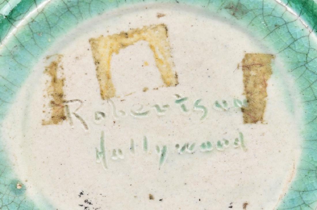 ROBERTSON HOLLYWOOD GREEN POTTERY VASE - 5