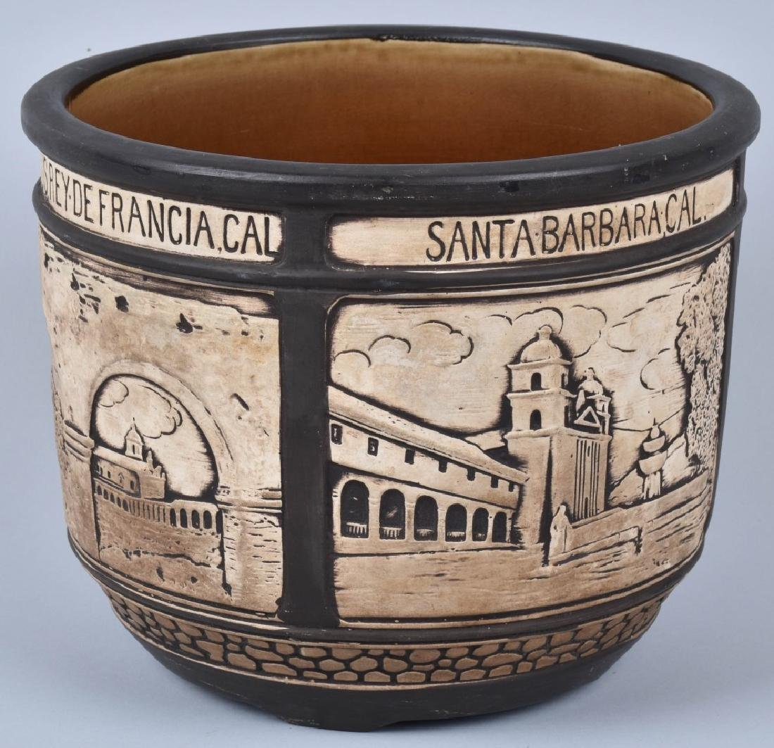 1920's CALIFORNIA POTTERY PLANTER w/ CITIES