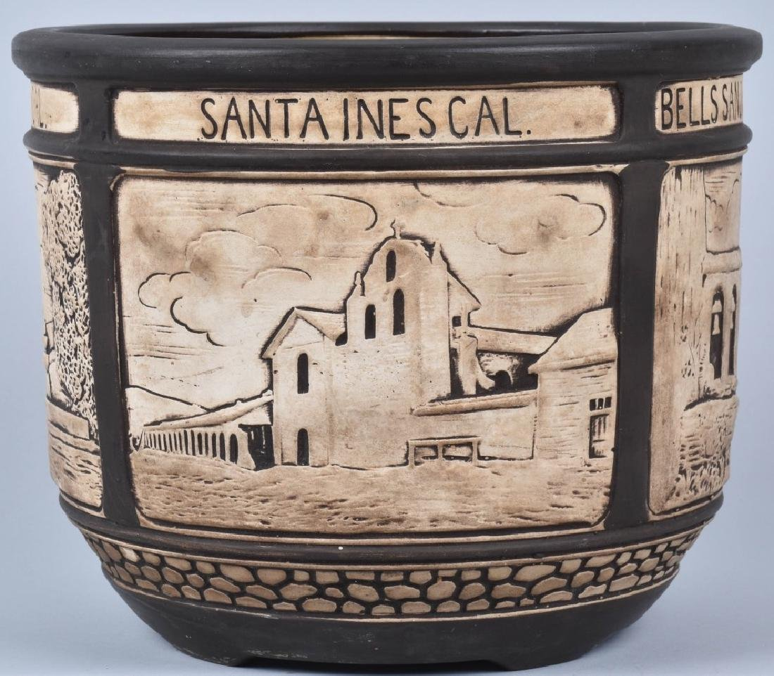 1920's CALIFORNIA POTTERY PLANTER w/ CITIES - 2