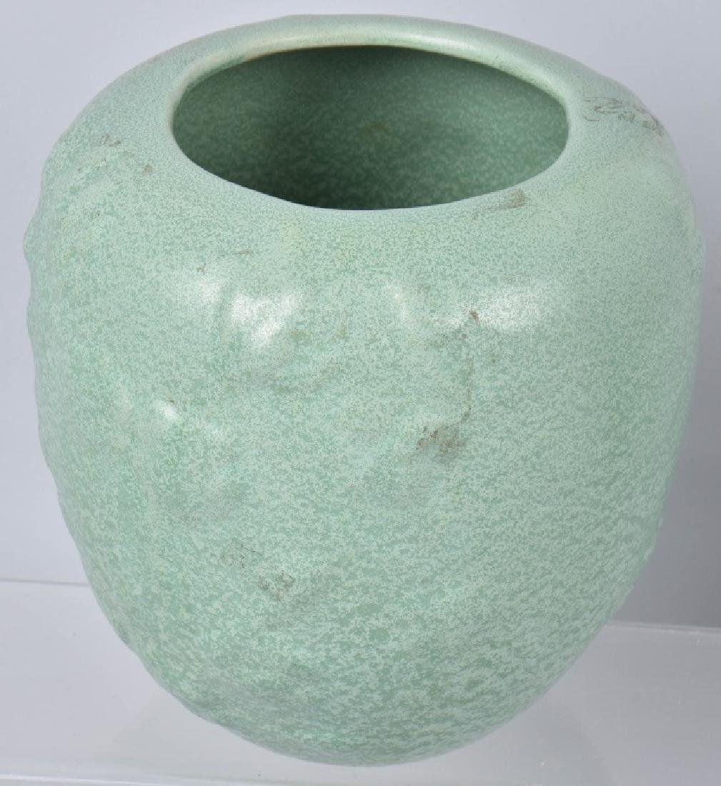 3-ARTS & CRAFTS STYLE MATTE GREEN POTTERY GROUP - 2