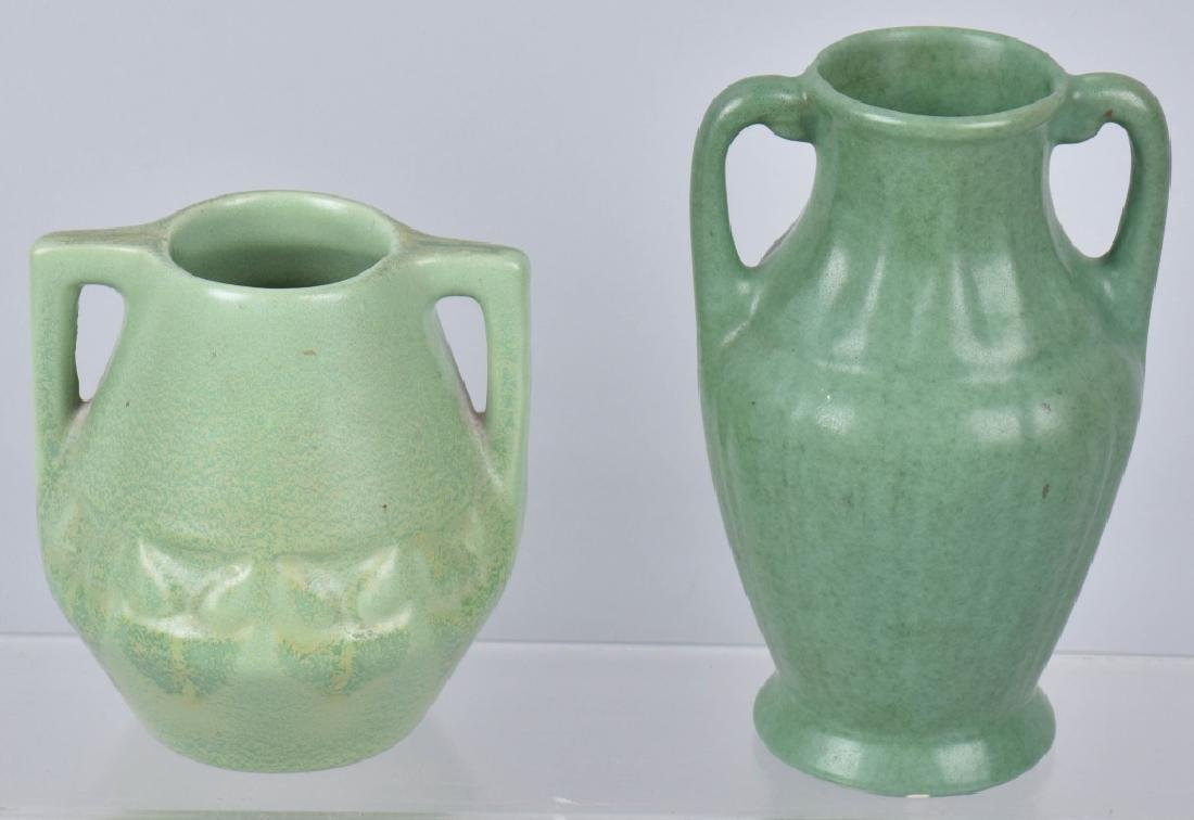 3-ARTS & CRAFTS STYLE MATTE GREEN POTTERY GROUP - 5