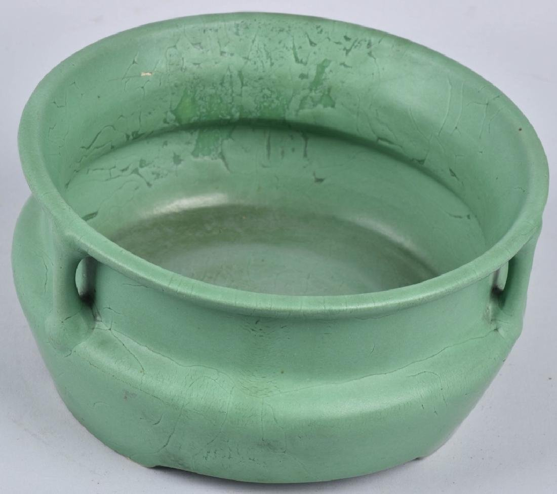 4-ARTS & CRAFTS STYLE GREEN POTTERY GROUP - 2