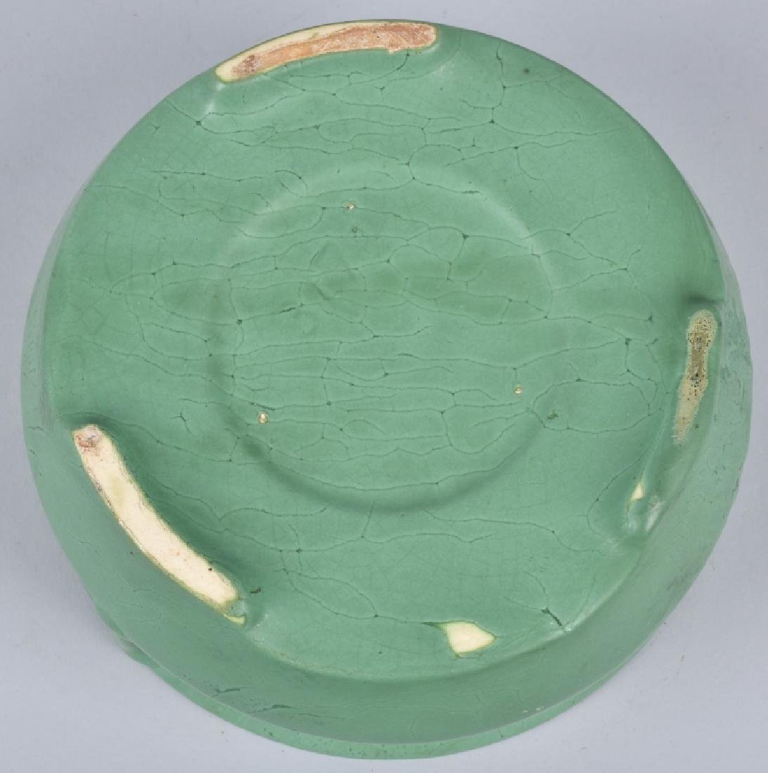 4-ARTS & CRAFTS STYLE GREEN POTTERY GROUP - 3