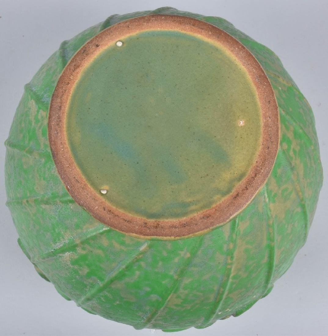 4-ARTS & CRAFTS STYLE GREEN POTTERY GROUP - 7