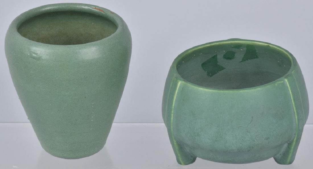 4-ARTS & CRAFTS STYLE GREEN POTTERY GROUP - 9