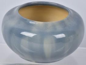 California Faience Pottery Blue Bowl