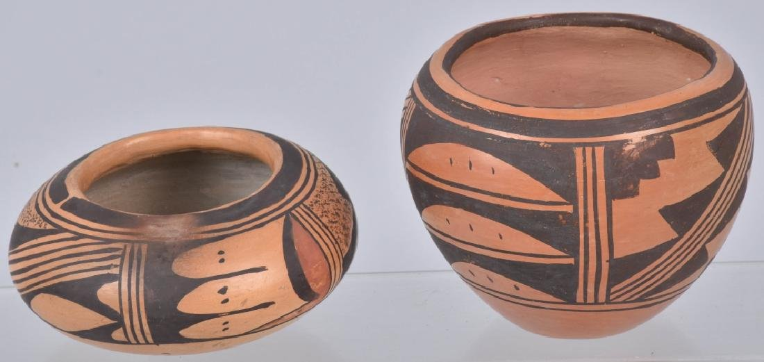 3-SOUTHWEST NATIVE AMERICAN POTTERY BOWLS - 6
