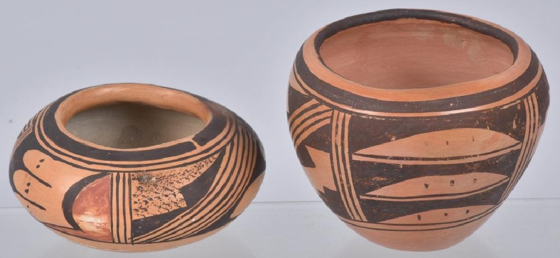 3-SOUTHWEST NATIVE AMERICAN POTTERY BOWLS - 7