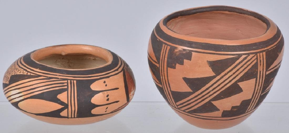 3-SOUTHWEST NATIVE AMERICAN POTTERY BOWLS - 8