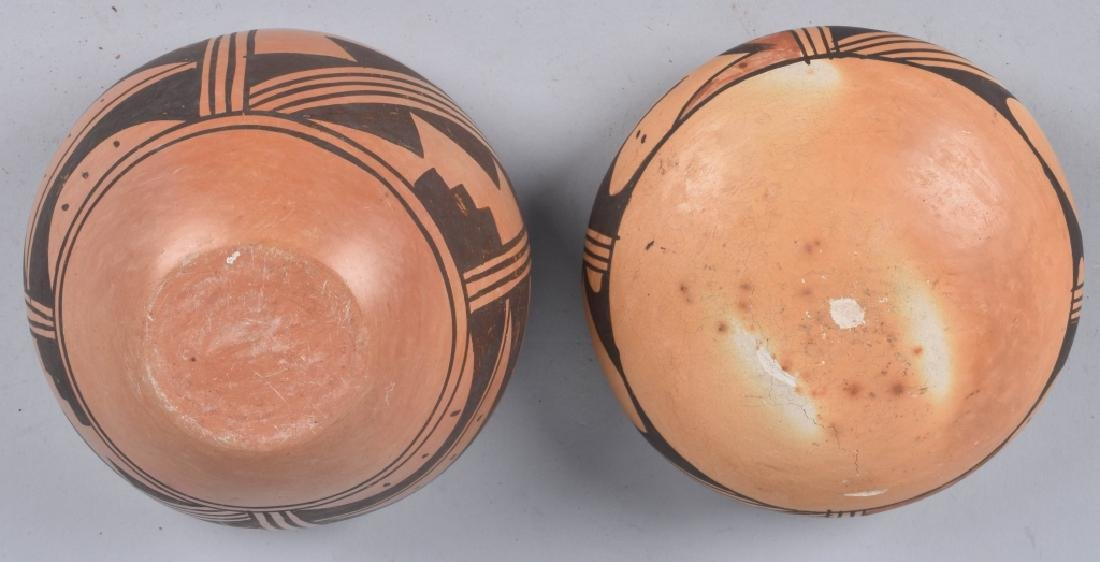 3-SOUTHWEST NATIVE AMERICAN POTTERY BOWLS - 9