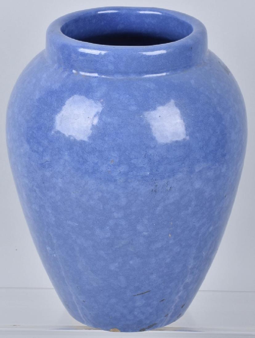 VINTAGE LARGE BLUE OIL JAR