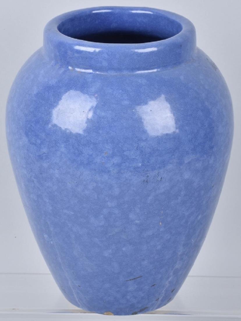 VINTAGE LARGE BLUE OIL JAR