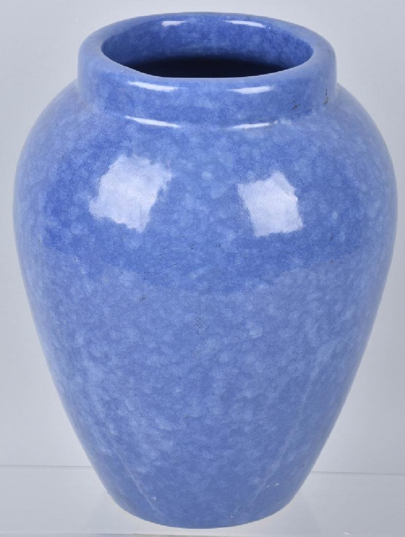 VINTAGE LARGE BLUE OIL JAR - 4