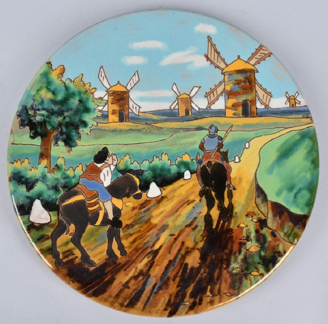 2-LARGE SPANISH PLATES, DON QUIXOTE & MORE - 2