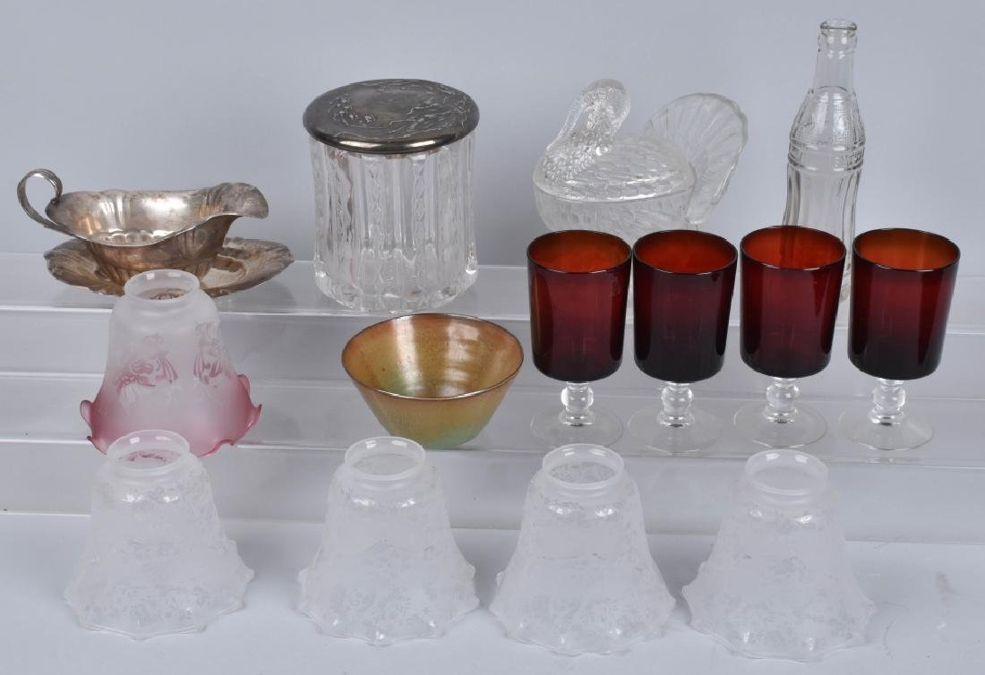 VINTAGE GLASS, LOT, HUMIDOR, TURKEY & MORE