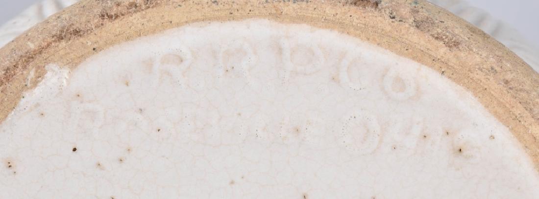 ROSEVILLE RRP CO. WHITE POTTERY PLANTER - 5