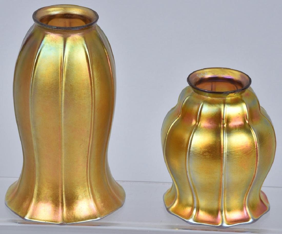 2-ART NOUVEAU IRIDESCENT LAMP SHADES
