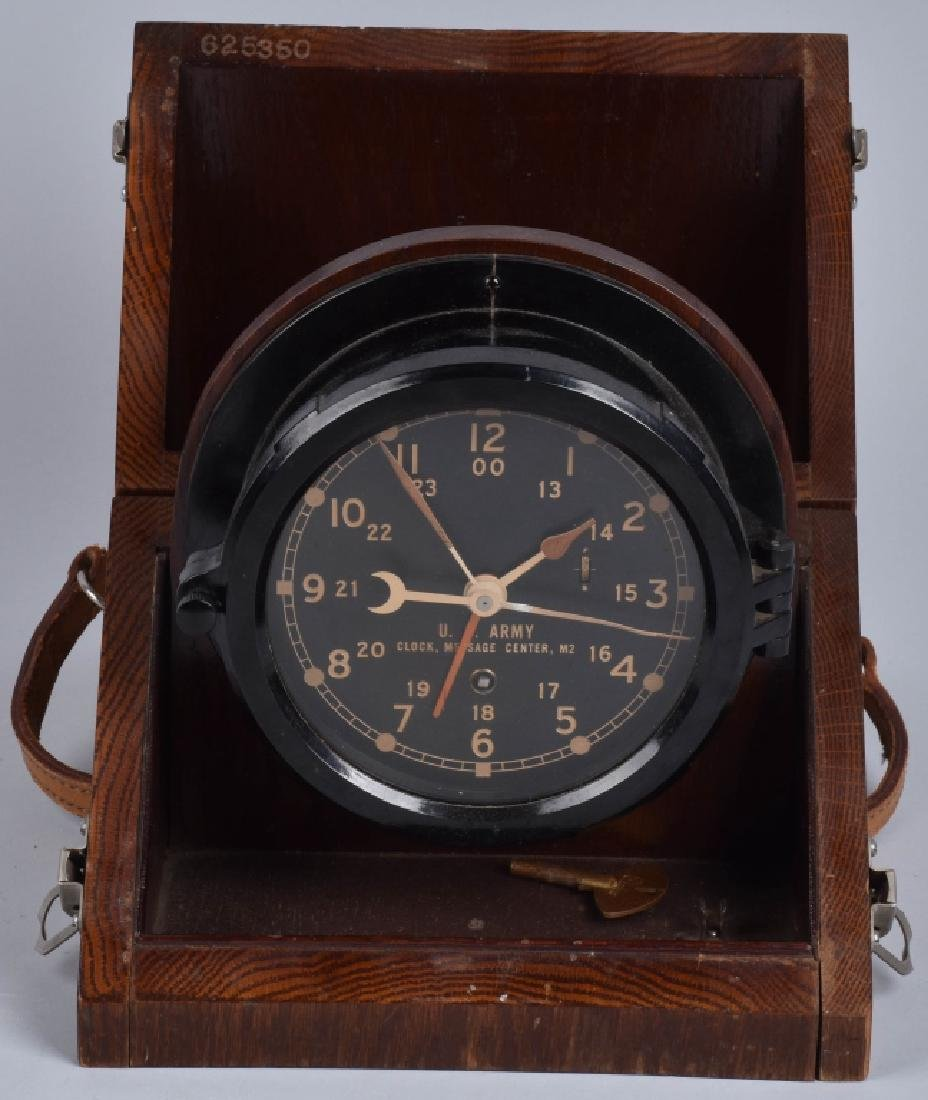 CHELSEA U.S. ARMY MESSAGE CENTER CLOCK M2