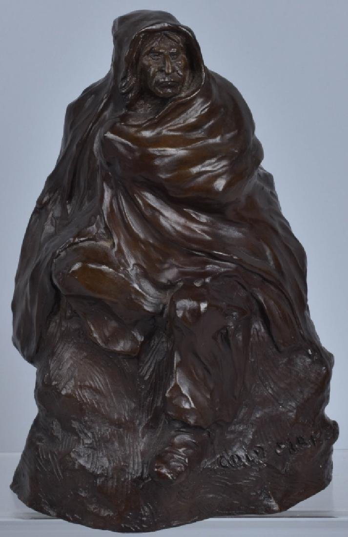 BRONZE SCULPTURE, BOB SORNIER, 1975