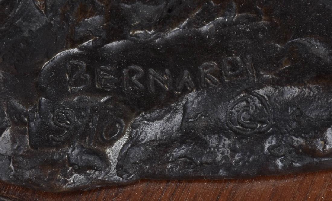 NATIVE AMERICAN WARRIOR BRONZE, signed BERNARD - 5