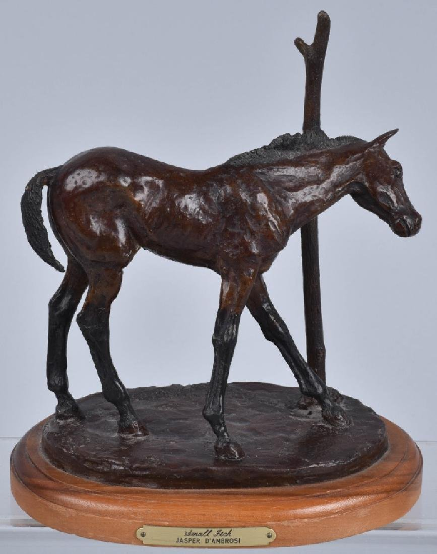 "BRONZE SCULPTURE,""SMALL ITCH"" JASPER D'AMBROSI"