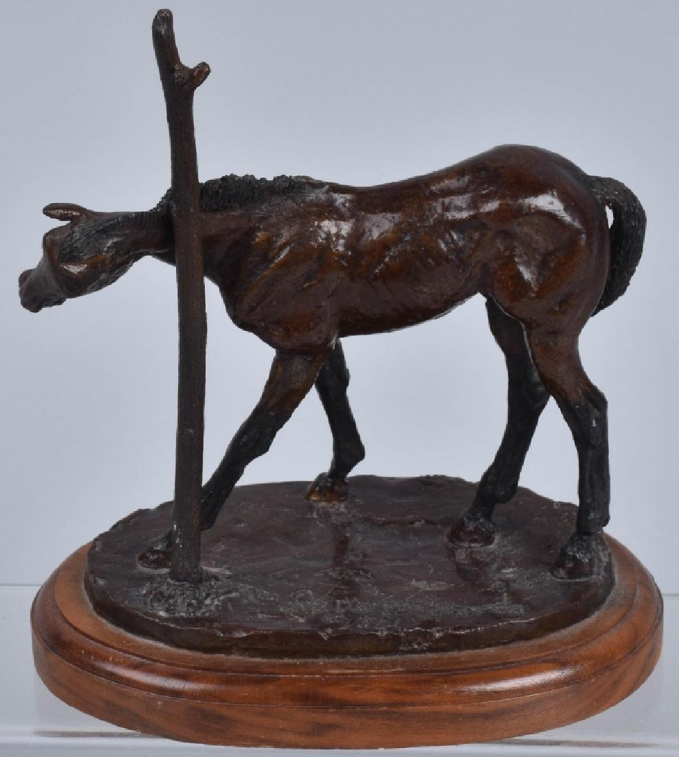 "BRONZE SCULPTURE,""SMALL ITCH"" JASPER D'AMBROSI - 3"
