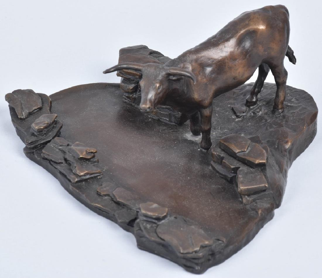 "BRONZE SCULPTURE ""AT THE WATER GAP"", H.A. FUCHS"