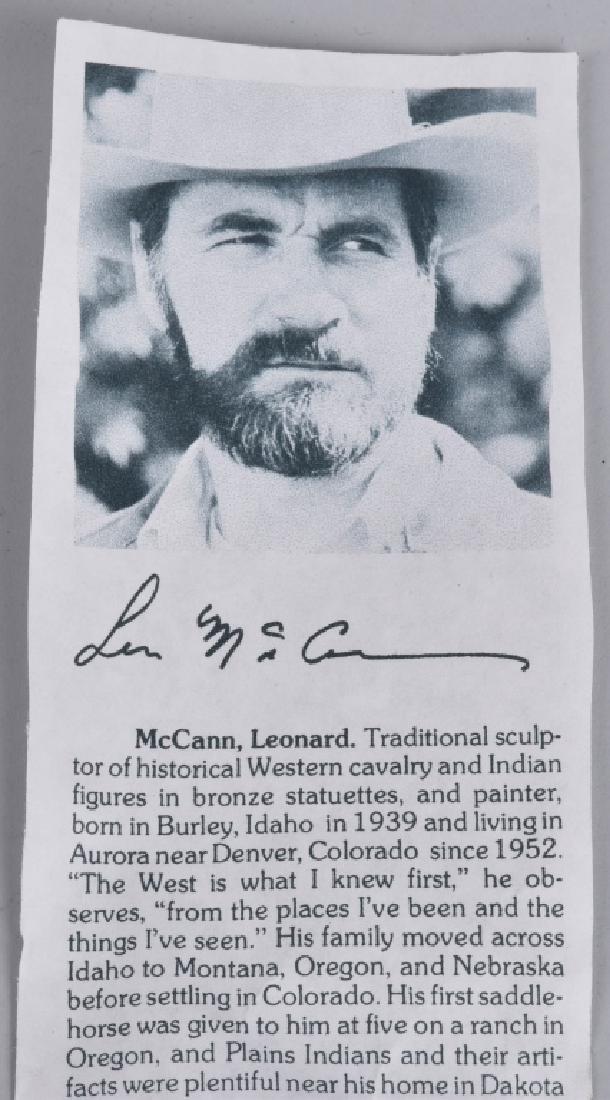 WESTERN BRONZE SCULPTURE, LEN McCANN - 6