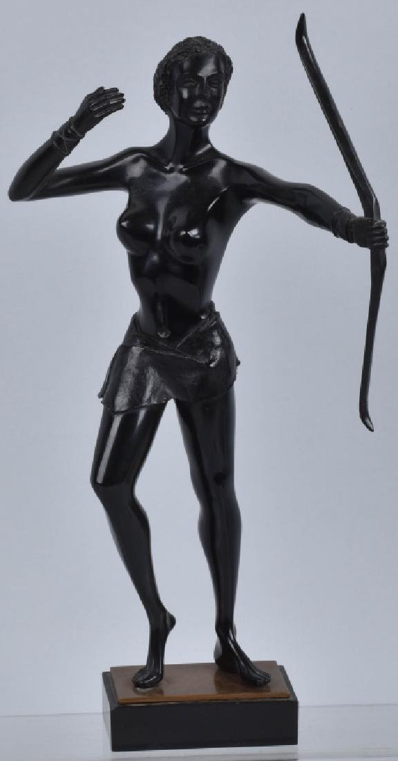 Vintage DIANA THE HUNTRESS with BOW STATUETTE