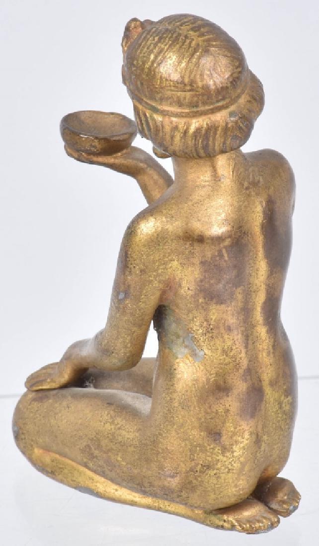 2-NUDE WOMAN CAST METAL STATUETTES - 7