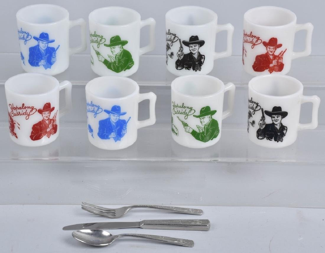8-VINTAGE HOPALONG CASSIDY MUGS and MORE