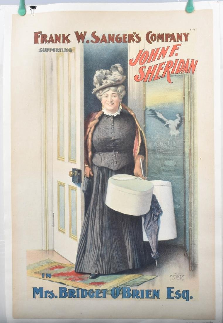 1900s MRS BRIDGET O'BRIEN THEATER POSTER