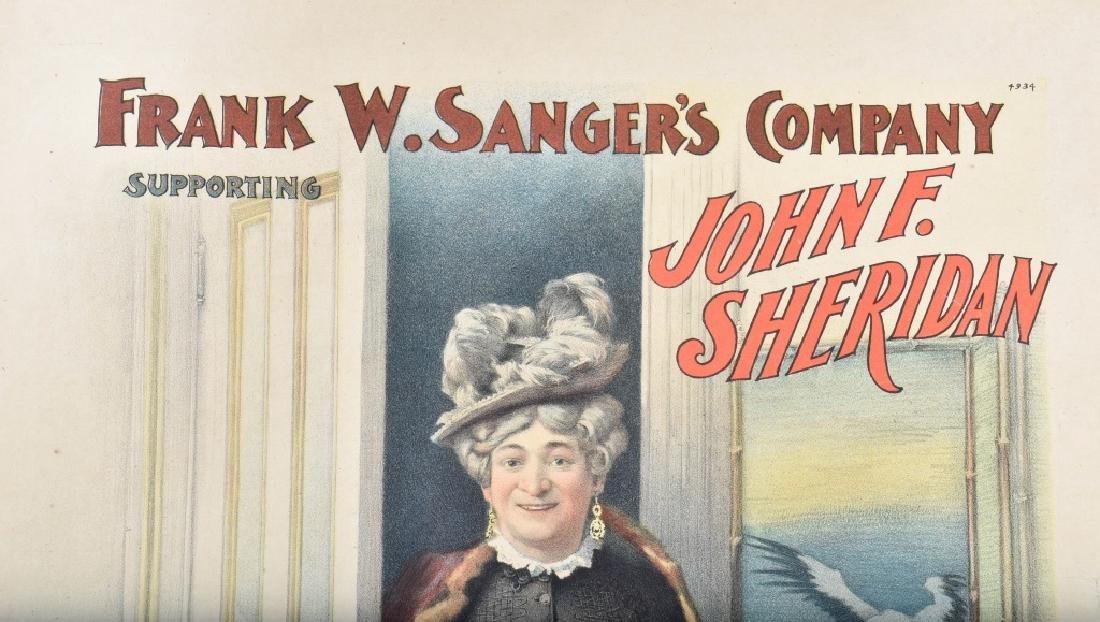 1900s MRS BRIDGET O'BRIEN THEATER POSTER - 2