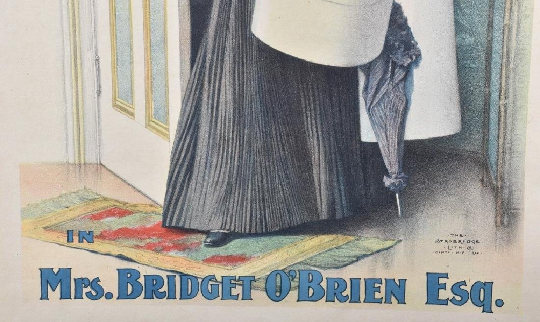 1900s MRS BRIDGET O'BRIEN THEATER POSTER - 4