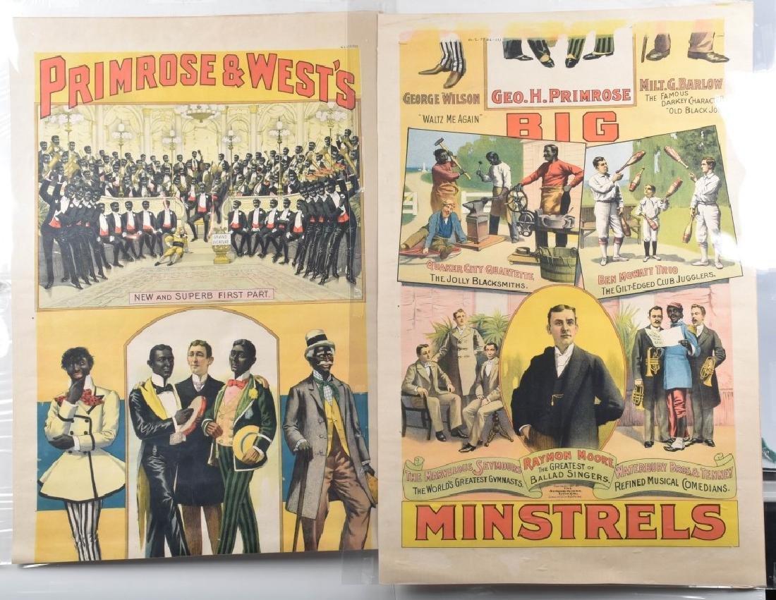 1900s PRIMROSE & WEST'S MINSTREL SHOW POSTER