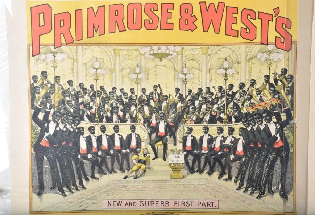1900s PRIMROSE & WEST'S MINSTREL SHOW POSTER - 2