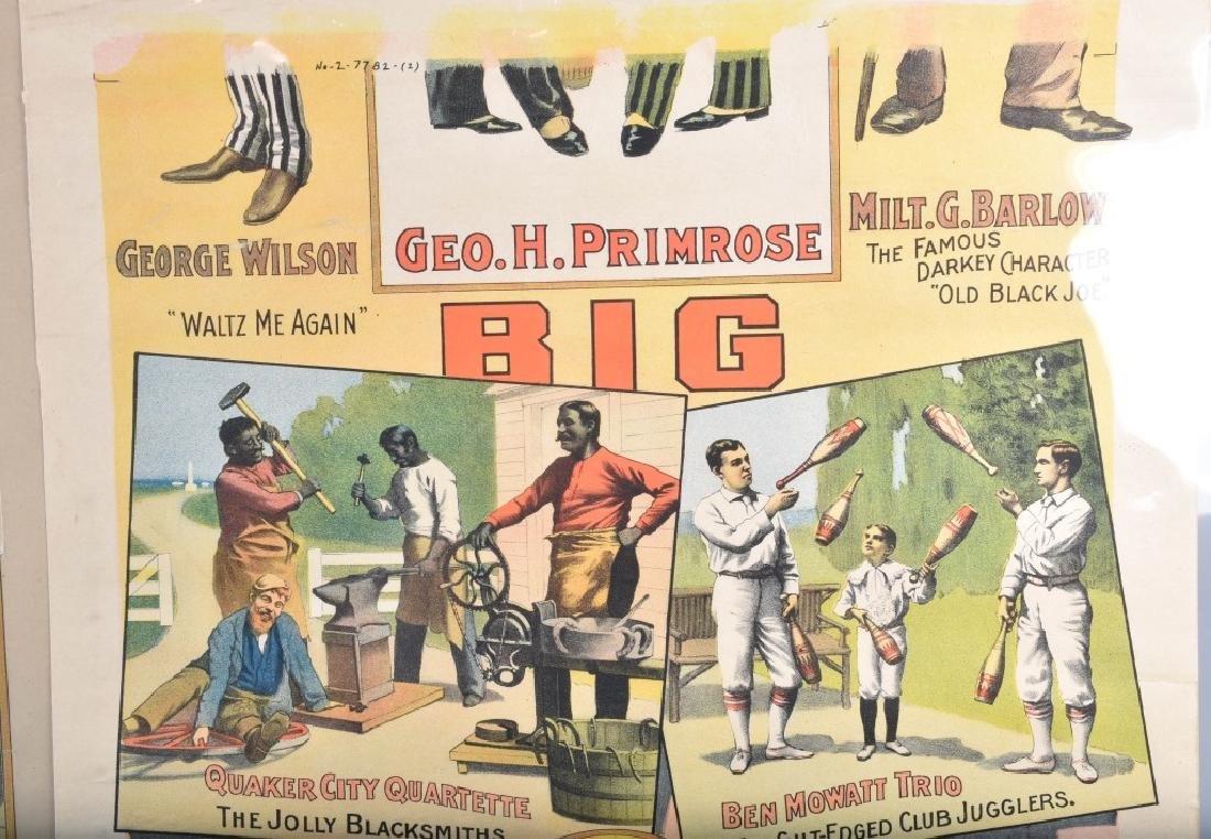 1900s PRIMROSE & WEST'S MINSTREL SHOW POSTER - 4