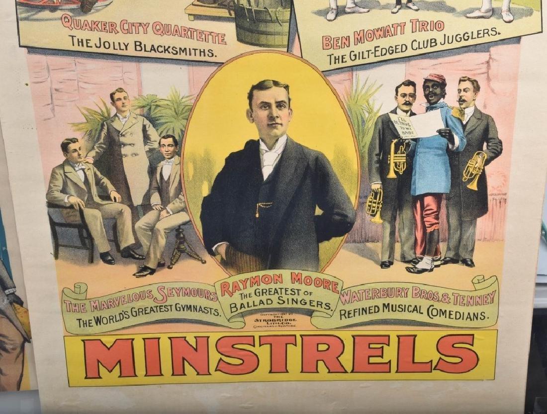 1900s PRIMROSE & WEST'S MINSTREL SHOW POSTER - 5